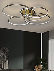 cheap -LED Ceiling Light Ring Design Modern Black Gold 105 cm Circle Design Flush Mount Lights Aluminum Artistic Style Modern Style Stylish Painted Finishes 220-240V 110-120V