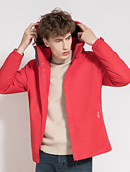 cheap -Men's Hiking 3-in-1 Jackets Ski Jacket Hiking Windbreaker Winter Outdoor Thermal Warm Windproof Quick Dry Lightweight Outerwear Winter Jacket Coat Skiing Ski / Snowboard Fishing Male-China Red