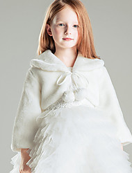 cheap -Kids Little Kids Jacket & Coat Plush White Dresses