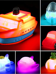 cheap -6 packs Light up Boat Bath Toy Set, Flashing Color Changing Light in Water, Floating Rubber Bathtub Toys for Baby Toddler Infant Tub Play, Boy Girl Kid Growing Pal in Shower Bathroom or swimming pool