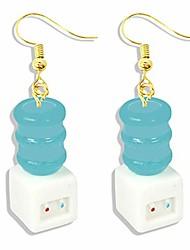 cheap -new funny drinking fountain toliet bathtub earrings for women geometric unusual creative acrylic dangle earrings fashion jewelry (mini fun cute earrings(drinking fountain))