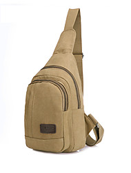 cheap -Men's Bags Nylon Sling Shoulder Bag Zipper Solid Color Daily 2021 Dark Brown Army Green Black Khaki