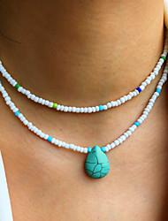 cheap -Women's Jewelry Set Beads Heart Stylish Fashion Holiday Cute Boho Earrings Jewelry 1# / 2# / 3# For Street Gift Prom Beach Festival 2pcs