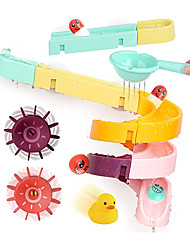 cheap -Kids Bath Toys Set, 24PCS DIY Slide Waterfall Track Stick with Suction Cup and Wheels Water Ball Shower Floating Bathtub Toy Summer Children Bathtub Gift for Kids Boys Girls