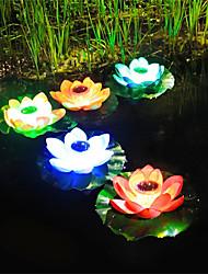 cheap -Solar Lights Outdoor Underwater Light IP68 Solar Powered Outdoor Lamp Lotus Flower Shape Pond Lantern Light Floating Led Festival Outdoor Waterproof Garden Decorative Colorful Lighting Lamp