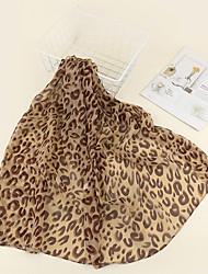 cheap -Women's Chiffon Scarf Daily Wear Leopard Scarf Leopard / Polyester