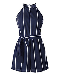 cheap -Women's Casual 2021 black strips Can add color and size New color blue stripes Jumpsuit Stripes
