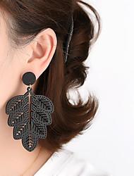 cheap -The New Hollow Leaf Wood Earrings European And American Simple Atmosphere Wild Earrings