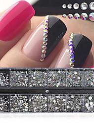 cheap -Nail Art Decoration AB Color Flat White Mix Shake Diy Nail Drill Accessories