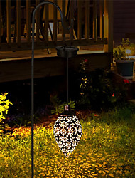 cheap -Solar Lights Outdoor Solar Garden Light Waterproof Hanging Solar Lanterns Retro Hollow Solar Projector Lights with Handle For Yard Tree Fence Patio Landscape Lighting