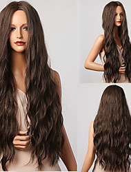 cheap -Synthetic Wig Loose Wave Tight Curl Middle Part Wig Very Long Dark Brown Synthetic Hair Women's Fashionable Design Soft New Arrival Dark Brown