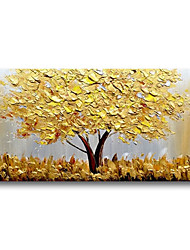 cheap -Oil Painting Handmade Hand Painted Wall Art Abstract Plant Flowers Golden Trees Home Decoration Decor Stretched Frame Ready to Hang