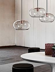 cheap -LED Pendant Light Glass Kitchen Island Light 30cm Single Design Transparent Smoky Gray Amber Electroplated Modern Nordic Style 110-240 V