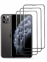 cheap -amnie [3 pieces tempered glass protective film for iphone 13 11 pro max and iphone xs max [6.5 inch], 9h hardness, hd, anti-scratch, anti-oil, anti-bubbles, cover-friendly, [2.5d round edge] - black