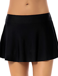 cheap -Women's Swim Shorts Swim Skirt Swim Trunks Bottoms UV Sun Protection Quick Dry Breathable High Elasticity Swimming Diving Solid Colored Summer / Limits Bacteria