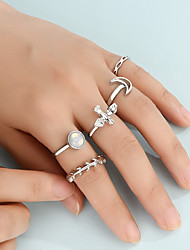cheap -Ring Set European And American New Foreign Trade Jewelry Wholesale Cross Personality Ring Metal Combination Six-Piece Ring