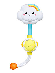 cheap -Baby Bath Toy, Lovely Cloudy Bathtub Shower Toy Water Spray Head Game for Toddlers Kids (NO Electric, Only Stick on Smooth Surface)