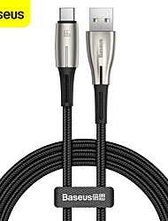 cheap -BASEUS USB C Cable Braided High Speed Quick Charge 6 A 2.0m(6.5Ft) 1.0m(3Ft) Zinc Alloy Nylon TPE For Samsung Xiaomi Huawei Phone Accessory