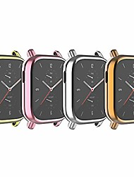 cheap -babyvalley case compatible with amazfit gts 2 all-around case screen protector tpu plated protective cover bumper shell waterproof case for gts 2 watch (pink&gold&rose gold&silver)