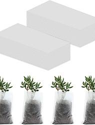 cheap -200 pieces of plant nursery bag (8*10CM 12*15CM 16*18CM 20*20CM) biodegradable non-woven nursery bag fabric plant seed bag suitable for home garden supply
