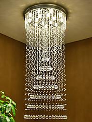 cheap -Crystal Chandelier For Staircase Luxury Design Cristal Ceiling Pendant Light Lamp Modern 180cm Home Decor Indoor Lighting Living Room Light Fixture