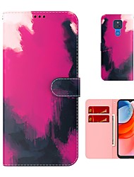 cheap -Wallet Flip Phone Case For Motorola Moto G9 Power G9 Plus Moto G8 Power Lite G7 Power Moto E7 Moto G Stylus Moto G Power Gradient PU Leather Full Body Protective Cover with Card Slots Kickstand
