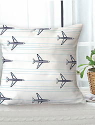 cheap -Airplane Double Side Cushion Cover 1PC Soft Throw Pillow Cover Cushion Case Pillowcase for Sofa Bedroom Livingroom Superior Quality Machine Washable  Outdoor Cushion for Sofa Couch Bed Chair