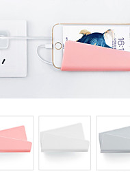 cheap -Wall-Mounted Mobile Phone Wall Charger Adapter Charging Holder Hanging Stand Bracket Support Charge Hanger Rack Shelf