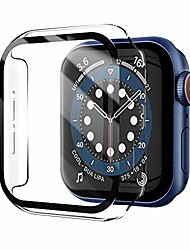 cheap -Smart watch Case compatible for apple watch series 6/se/5/4 case,apple watch screen protector tempered glass iwatch hard pc shockproof cover thin bumper full protection i watch accessories (40mm)