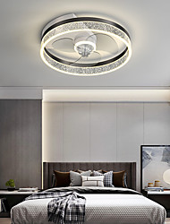 cheap -LED Ceiling Light With Fan Modern Round Black Gold 50 cm Geometric Shapes Ceiling Fan Aluminum Artistic Style Classic Brushed Electroplated LED Nordic Style 220-240V 110-120V