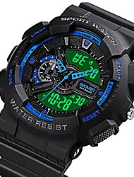 cheap -mens digital sports watch large face sports outdoor waterproof military chronograph wrist watches for men with date multifunction tactics led army stopwatch blue