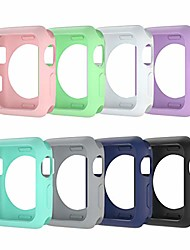 cheap -Smart watch Case compatible for apple watch 38mm 40mm 42mm 44mm  soft tpu shockproof and shatter-resistant protective protector bumper covers  apple watch se series 6 5 4 3 2 cases (8 colour 42mm)