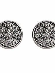 cheap -sevenfly simple geometric round stud earring frosted dream starry stainless steel earring women elegant accessories,color 3