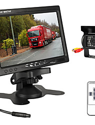 cheap -reversing image display 7-inch high-definition car display, two-way input, reversing rear-view priority dvd small tv