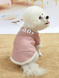 cheap -Dog Costume Dog clothes Quotes & Sayings For Indoor and Outdoor Use Cute Casual / Daily Outdoor Winter Dog Clothes Puppy Clothes Dog Outfits Warm Blue Pink Brown Costume for Girl and Boy Dog Polyster