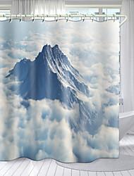 cheap -Alpine Snow Series Digital Printing Shower Curtain Shower Curtains Hooks Modern Polyester New Design 72 Inch