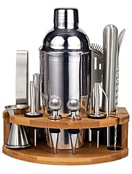 cheap -Insulated Cocktail Shaker Mixer Bartender Kit Set of 12 Stainless Steel Bar Tool Set with Stylish Bamboo Stand Perfect Home Bartending Kit and Martini Cocktail Set