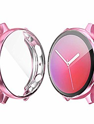 cheap -screen protector case compatible for samsung galaxy watch active 2 40mm/44mm cover, all-around protective cover soft tpu bumper frame accessories ,hd clear and anti scratch(7 colors 2 sizes)