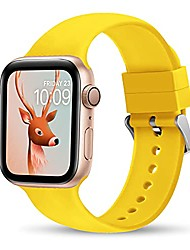 cheap -thwalk sport bands compatible with apple watch band 38mm 40mm 42mm 44mm for men women waterproof band replacement strap accessories for iwatch se series 6/5/4/3/2/1 (yellow, 38/40mm)