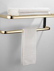cheap -Towel Bar Multifunction Bathroom Shelf Multilayer Brass Material Double