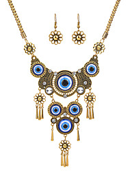 cheap -necklace retro turkish blue eyes clavicle necklace female accessories