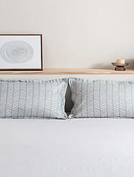 cheap -2 Pack 50*75cm Pillowcases/Pillow Shams Print Soft Microfiber Geometric Line Streak