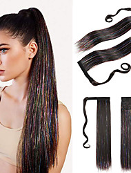 cheap -Ponytails Synthetic Extentions kinky Straight Synthetic Hair 22 inch Hair Extension Drawstring Natural Natural Color 1 Pack Fashionable Design Silky Fashion Women's Female Party Party Evening Daily