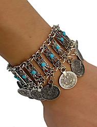 cheap -Women's Bracelet Geometrical Heart Stylish Simple Boho Alloy Bracelet Jewelry Silver For Daily Promise