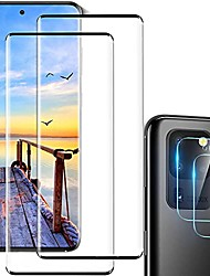 """cheap -galaxy s20 ultra screen protector tempered glass,camera lens protector [touch sensitive][fingerprint support][9h hardenss][no bubbles] for samsuny galaxy s20 ultra 5g (6.9"""")[2+2]"""