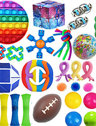 cheap -36PCS Fidget Toy Packs Cheap Fidget Box with Simples Dimples Pop Bubble DNA Stress Relive Balls for Kids Adults ADHD ADD Anxiety Autism (A Set)