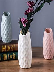 cheap -7*21CM Vase Plastic Northern European Style Flower Arranged Vase With Imitation Glaze 1pc