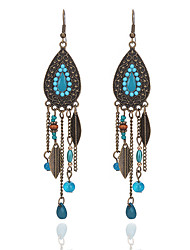 cheap -dangle earrings drop earrings jewelry earrings fashion oval leaf earrings rice beads retro tassel earrings