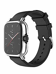cheap -Smart watch Case compatible with amazfit gts 2 all-around case screen protector tpu plated protective cover bumper shell waterproof case for gts 2 watch (silver)