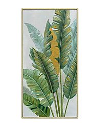 cheap -Oil Painting Handmade Hand Painted Wall Art Modern Banana Leaf Abstract Home Decoration Decor Rolled Canvas No Frame Unstretched